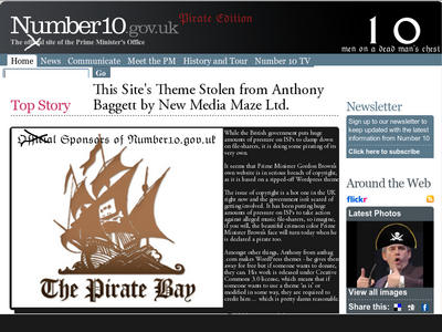 Gordon Brown's Pirate Website