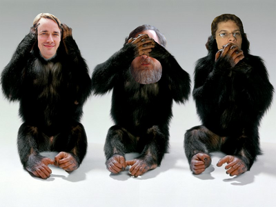 Three OSS Monkeys Ignore Evil